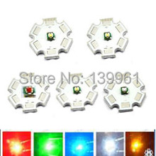 10pcs/lot US Original Cree XPE XP-E 1W 3W LED Emitter White Red Green Blue Royal Blue Amber LED on 20mm Star