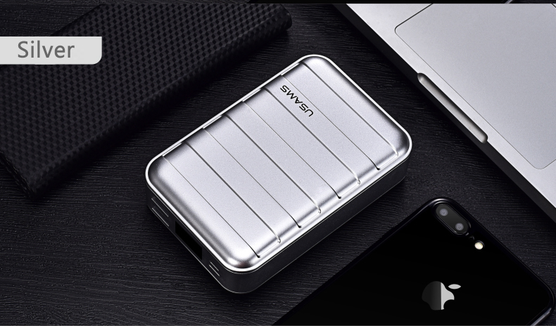 Power Bank 000mAh USAMS LCD Portable PowerBank External Battery Dual USB Charger For Xiaomi iPhone 7 6 6S 5 Mobile Phones Tab 21