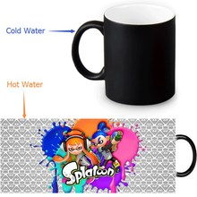 350ml Splatoon Color Transforming Mugs Coffee Milk Ceramic Morphing Mug Novelty Heat Changing Color Tea Cup(China)
