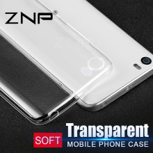 ZNP Luxury Soft TPU Ultra Crystal Clear Case for Xiaomi Mi 6 5X 5 5S Plus 5C Cases For Xiaomi Mi5 Mi5S Mi5C Mi5X Silicone Case