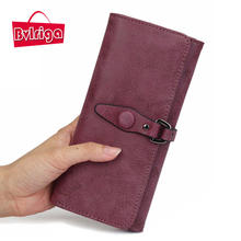 BVLRIGA Beautiful Long Phone Purse Famous Luxury brand Leather women Wallet female card holder money Bag Clutch Red Green Black
