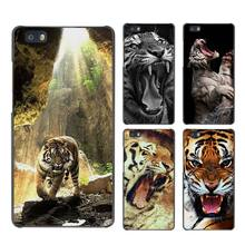 Tiger Angry tigers Hard Case Black Cover Scrub for Huawei P8 P9 Lite Plus P7 Mate S 7 8 9