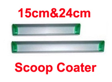 Free shipping 2 pcs 15cm 24cm (6inch 9.5inch) Screen Printing Aluminum Emulsion Scoop Coater Tools Materials