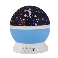 Kids Baby Sleep Lighting Sky Star Master Lights USB Lamp Led Rotating Spin Night Light Projector