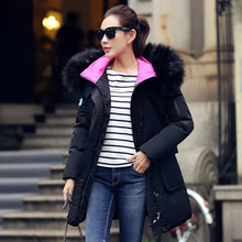 Winter Hodded Jacket Parka For Women New Fashion Hot Sale Women's Down Jacket Super Warm With Fur Collar Jaqueta Feminina GQ1446