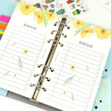 Jamie Notes planner Refill spiral notebook filler paper for filofax personal diary daily organizer Chancellory school stationery(China)