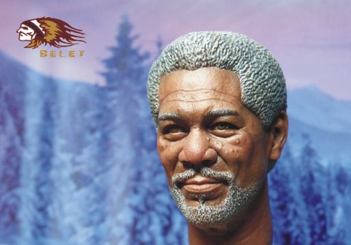 1/6 scale figure doll head shape for 12 action figure doll accessories The Shawshank Redemption Morgan Freeman male Head carved<br>