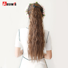 Buy AOSIWIG Long Curly Ponytail Black Women Wine Red Hair Heat Resistant Synthetic Fake Hair Pieces for $5.66 in AliExpress store