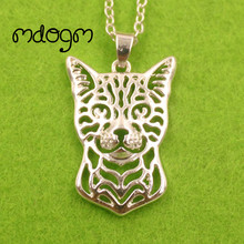 2017 Cute Bengal Cat Necklace Animal Pendant Gold Silver Plated Jewelry For Women Male Female Girls Ladies Kids Boys NT005(China)