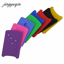 Buy jingyuqin 30pcs/lot 4 Button Car key Silicone Cover Protector Holder Renault Clio Logan Megane 2 3 Koleos Scenic Card Case for $23.43 in AliExpress store