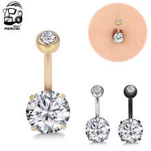 New Brand 316L Stainless Steel Navel Piercing Belly Button Rings Body Piercing Navel Sexy Jewellery Women Piercing(China)