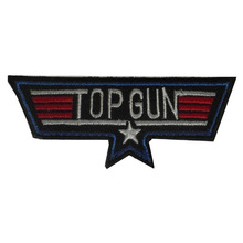 10 PCS New arrive Military USA NAVY TOP GUN IRON-ON PATCH EMBROIDERY BADGE LOGO