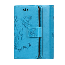 For Huawei Y3II / Y3 II 2 Flip Stand Hand Strap PU Leather Phone Case For Huawei Y3II Card Slot Butterfly Magnetic Wallet Cover