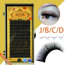 2017 Hot All Size B C D Curl Individual Mink Eyelash Extension Soft Black Fake False Eye Lashes6-14mm Makeup Toool Freeshipping