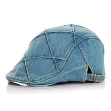 Patchwork Denim Baby Beret Cap Adjustable Children Hats for Girls and Boys Accessories for 1-4 Years