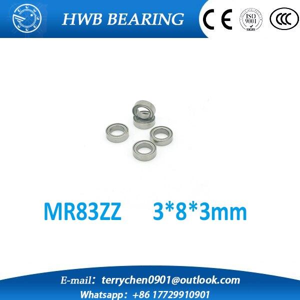 MR83ZZ MR83 ZZ Bearing 3x8x3 mm free shipping(10pcs) Miniature Ball Bearings Deep Groove Ball Bearings L-830ZZ<br><br>Aliexpress