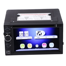 "6.5"" 2Din Android monitor 4.4 LCD Car DVD Audio Radio Player For Phones Built In GPS WIFI 3G Bluetooth Touch Screen TFT USB 16GB"