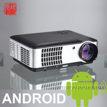 Brand New Latest LED Home Theatre Multimedia Projector Proyector, Android 4.2 Built-in, With Wifi TV AV USB HDMI VGA