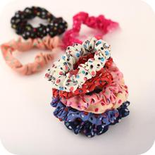 OH0367 Original Polka Dot fabric hair accessories head flower hair tie hair ring hair rope rubber head band solid bars new 2014