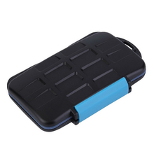 New Memory Card Case Holder for 8 x SD Sdhc Cards MC-SD8 Waterproof Anti-shock Storage Holder box Wholesale(China)