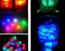 Wholesale Luminary Lamps Wedding Ice Cubes LED Glow Novelty Party Sparkling Lights Ice Cubes Light-Up Toys free shipping DHL