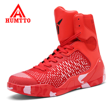Humtto Men Basketball Shoes Air Damping Men Sports Sneakers High Top Breathable Training Leather Shoes Men Outdoor Jordan Shoes