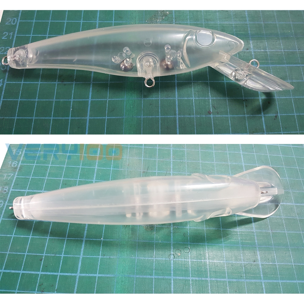 10pcs/Lot Unpainted Clear Plastic Fishing Lure Bodies Bait 35g 15cm Great Blanks DIY Free Shipping(China (Mainland))
