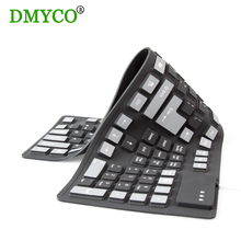 DMYCO 5pc111keys USB Wired Russian/English waterproof keyboards silicon portable Flexible keyboard for Laptop Desktop tablet