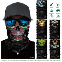 High Quality 3D Style Outdoors Seamless Skull Bandana Cycling Scarf Headwears Magic Camouflage Harley Bandana Halloween Scarves(China)