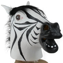 Zebra Mask 2017 New Halloween Mask Realistic Latex Horse Head Interesting Party Masquerade Masks Silicone Face(China)