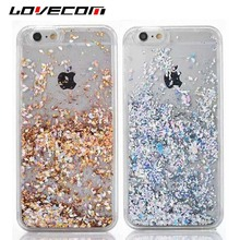 LOVECOM For Apple iPhone 5C Shining Case Dynamic Liquid CZ Diamond Quicksand Hard PC Back Cover Mobile Phone Cases Coque Shell