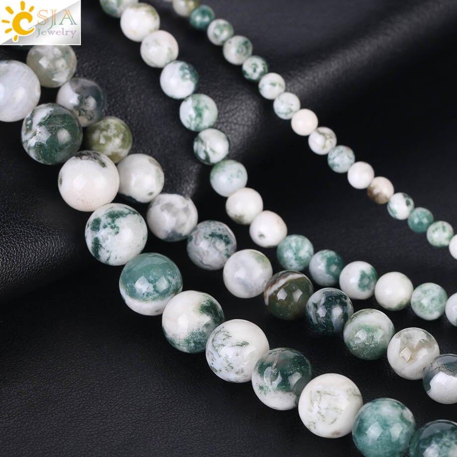 Moss Agate Perles Rondes 8 mm vert 8 PCS pierres précieuses À faire soi-même Fabrication De Bijoux Artisanat