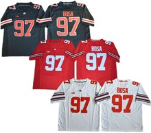 Men s Ohio State Buckeyes College 97 Joey Bosa Football Jerseys black Red  White Stitched Size M d940144f0