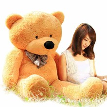 GIANT 120CM 47'' Cotton Light Brown Giant 120cm Cute Plush Teddy Bear Huge Soft TOY(China)