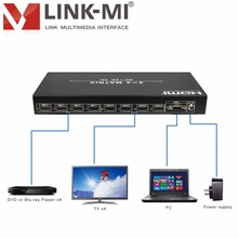 LM-MX44 HDMI Matrix Switcher 4x4 Compliant HDCP Up to 4Kx2K Button IR Remote Control and RS232 Control EDID HDMI splitter 1x4
