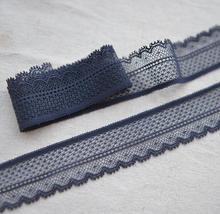 5 Meters/lot 3cm Width Navy Blue DIY Trims Design Elastic Lace Ribbon Wedding Bride Dress Sewing Craft