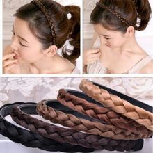 Women Fashion Hairbands Twisted Wig Design Braid Hair Band Braided Headband Party Gift Beauty Hair Accessories(China)