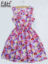 HOT 22 Colors Summer Women Sexy Chiffon Dress Floral Tank Printed Fashion Sleeveless Female Beach Party Dresses Vestido(China)
