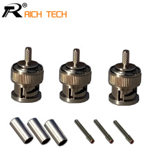 Buy 3pcs Wire connector BNC male crimp Type Connector cctv system BNC MALE plug COUPLER CONNECTOR RG58/RG59/RG6 for $2.62 in AliExpress store