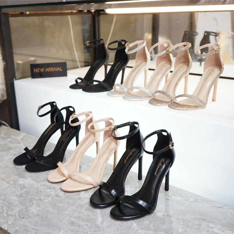 Ankle-Strap Summer Sandals Shoes Woman Fashion Elegant Date OL Women Sandals