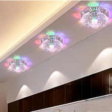 3W square led crystal lamp light, corridors porch light , creative lamp, Ceiling Lights(AC 220V)