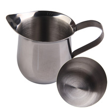 New Coffee Shop Small Milk Cream Waist Shape Cup Stainless Steel Jug Coffee Pot French press Refractory Jug 3.5.8oz