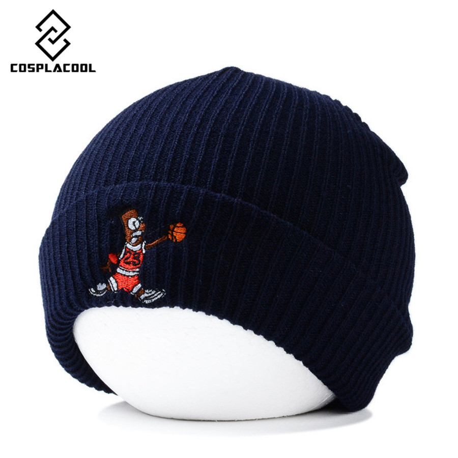 [COSPLACOOL] Autumn and winter dog embroidery wool cap cartoon basketball knitted cap men and women knitted capÎäåæäà è àêñåññóàðû<br><br><br>Aliexpress