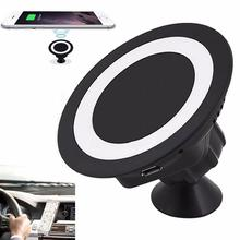 Qi Wireless Charger Dock Sticky 360 Rotating Mount Car Holder Charging Pad For Samsung Galaxy S7/S7 S6 Edge/Plus/Note 5
