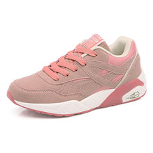 2017 New Trend Ladies Walking Shoes Brand Pink/White Girls Running Shoes Summer/Autumn Athletic Sneakers Lace Up Sports Trainers