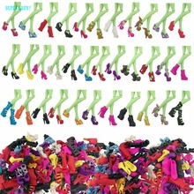 5 x Fashion Doll Shoes Mixed Style High Heel Sandals Dress Up DollHouse Plastic Accessories For Monster High Dolls Kid Toy Gifts