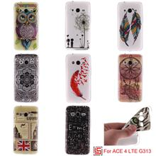 Cheap Ultra Thin TPU Silicone Soft Phone Cell Mobile Case Cover Cove For Samsung Samsun Galaxy Galaxi ACE 4 LTE G 313 G313