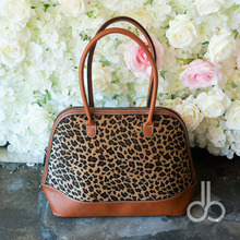(short fur)Wholesale Blanks Leopard Shell Tote Bag Cheetah Women Handbag with two zipper Closure Leather Handle DOM103399(China)