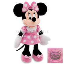 Original Minnie Mouse Plush Toy Minnie Pink Stuffed Animals 48cm 19'' Mickey Girlfriend Baby Girls Toys for Children Kids Gifts
