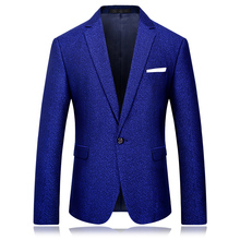 Men Slim Fit Royal Blue Blazer M-4XL Stage Costumes for Singers Autumn New Arrival Party Blazers for Men(China)